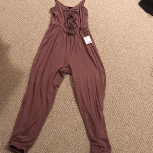 afc7636d8f0a Urban Outfitters Pants - Urban Outfitters Elsie Cinched Cutout Jumpsuit